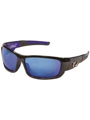 Mustad Γυαλιά Ηλίου Μαύρος Σκελετός, Smoke Φακός με Μπλέ REVO - HP101A-1