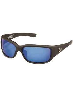 Mustad Γυαλιά Ηλίου Μαύρος Σκελετός, Smoke Φακός με Μπλέ REVO - HP102A-1