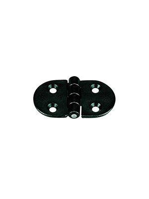 Μεντεσές Πλαστ. ΡΑ, Στρογγυλός 70x40x4.5mm, Μαύρος