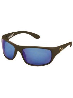 Mustad Γυαλιά Ηλίου BLACK FRAME, SMOKE LENS WITH BLUE REVO HP100A-1